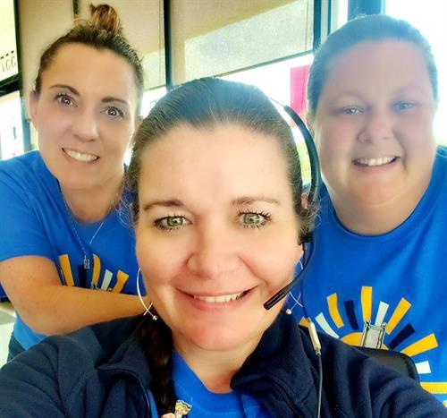 Staff- Katy Fruge (left), Dawn Brocato (center), Tonya Lanclos (right)