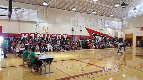 Hamilton Elementary Donation Event