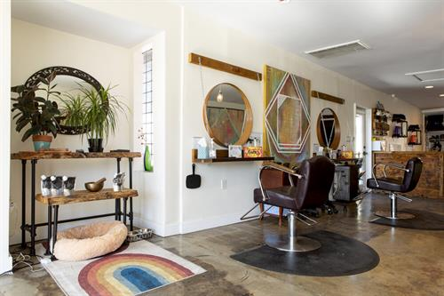 Our boutique salon offers a clean and comfortable space for your beauty services