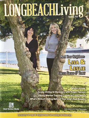 Lisa hain and Leslie Davis feature in local Long Beach magazine