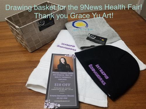 Giveaway gift basket
