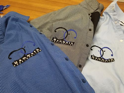 Mammoth Construction logo embroidery shirts