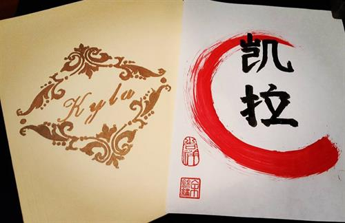 Name in Chinese calligraphy