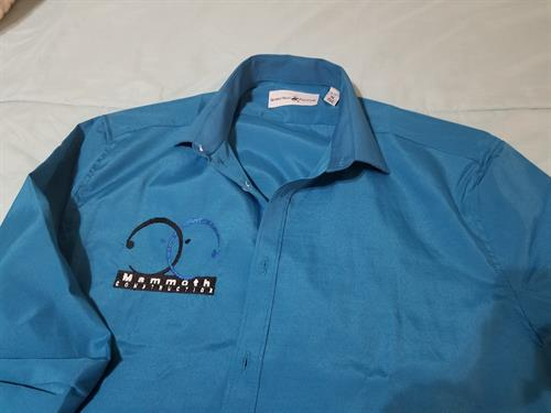 Mammoth Construction embroidery man's dress shirt
