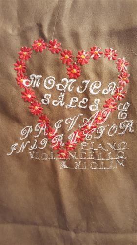 Custom embroidery scarf