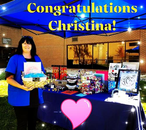 Winning of gifts prize basket drawing at Thornton Health and Safety Festival Oct 2018