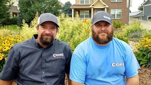 The orginal team-Kevin and Nate, owners and operators of Core Lawn and Tree Care.