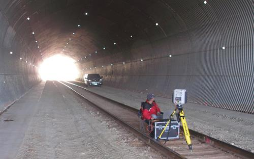 3D Scanner DM&E Railroad Multi-plate under I-90 Pennington County, SD