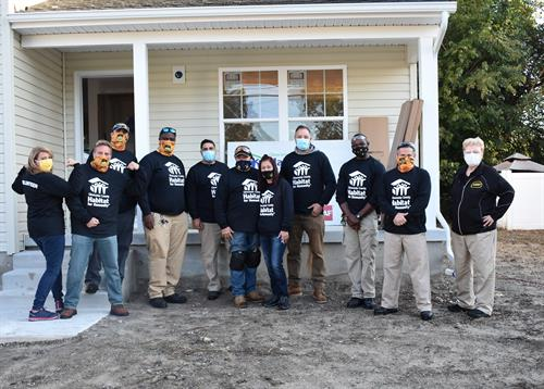 Every year employees from Hoffman's Exterminating volunteer to help with efforts by Habitat For Humanity and the Ronald McDonald House.