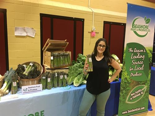 Promoting Jersey Fresh at Bridgeton Public Schools' Nutrition Expo.