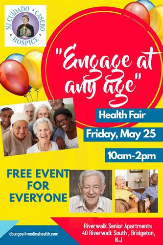 May 25th 10am-2pm Health Fair