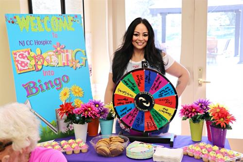 Delia Burgos at Spring into Bingo at Spring Oaks Assisted Living Facility