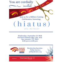 Ribbon Cutting: Hiatus Spa + Retreat