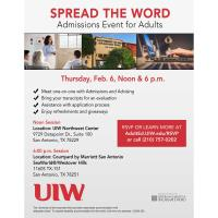 University of the Incarnate Word Admissions Event