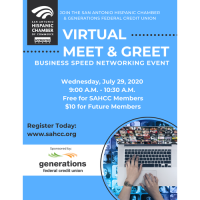 SAHCC Virtual Meet & Greet Sponsored by Generations FCU
