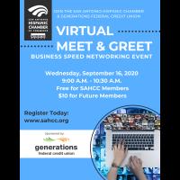 SAHCC Virtual Meet & Greet Sponsored by Generations FCU