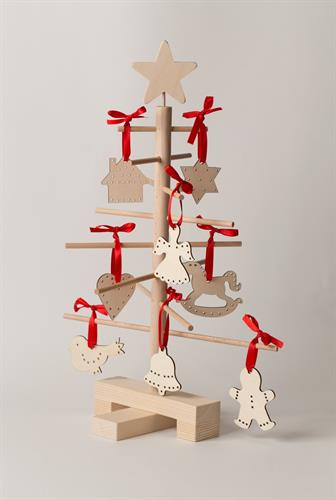 Decorated Wood Christmas Trees