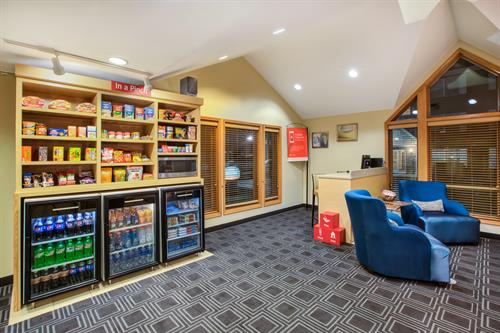 Business Center and 24 hour snacks available in the Lobby.