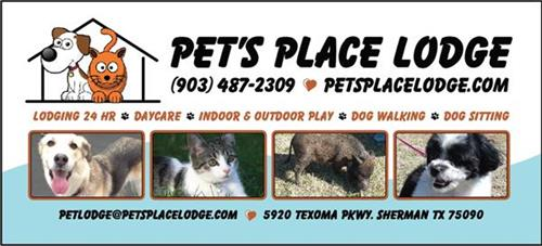 Pet's Place Lodge Rack Card