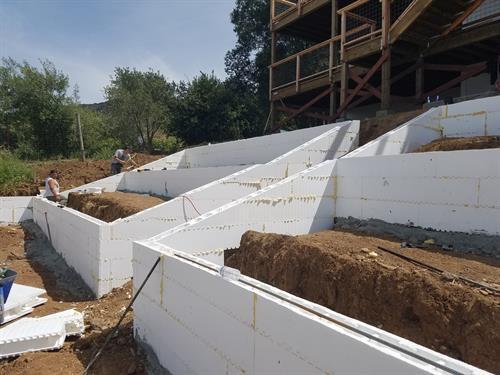 Terraced Retaining Walls, Napa, CA