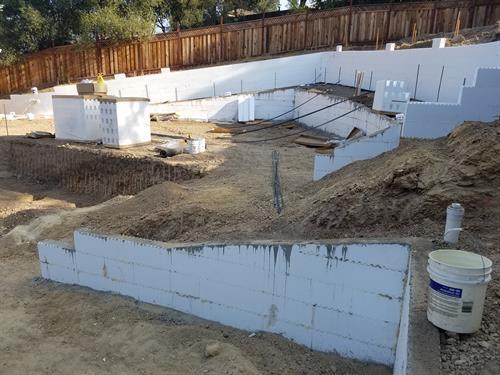 Terraced Retaining Walls, Gilroy, CA