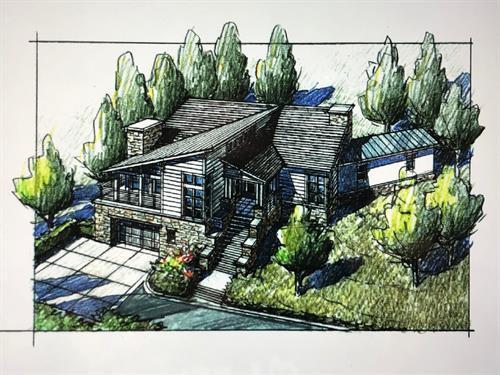 Under Construction - Chrystal Dr. Sonoma Co - 3,500 sf. Greatroom 5br Office 4 1/2ba. (Custom)