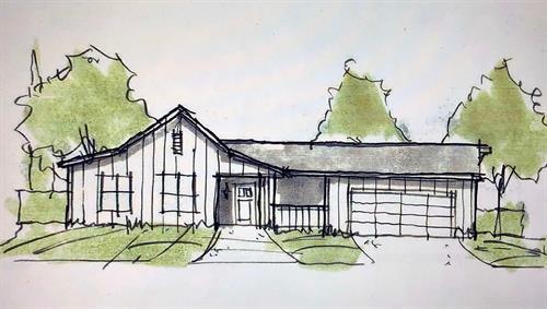 In Design - Paradise CA - Farmhouse - 1,200 sf. Greatroom 3br. 2ba.  (Up to 1,700  sf. 5br. 2ba. House)