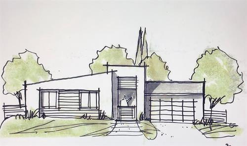 In Design - Paradise CA - Modern - 1,200 sf. Greatroom 3br. 2ba. (Up to 1,700  sf. 5br. 2ba. House)