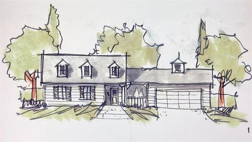 In Design - Paradise CA - Traditional Cottage - 1,200 sf. Greatroom 3br. 2ba. (Up to 1,700  sf. 5br. 2ba. House)