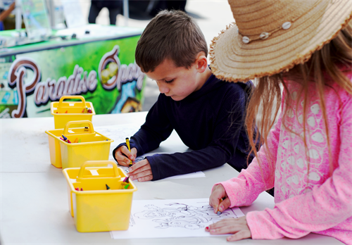 Kids coloring contest at the Gold Nugget Days James Square Craft Fair