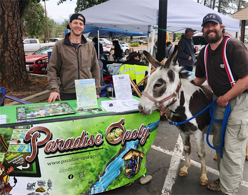 Creator, Tanner Stauss, with Poppy and Henry of Donkey Derby fame