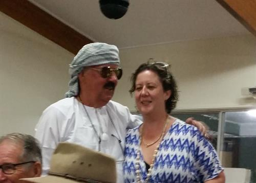 Arab Jim trying to recruit Julianna for his haram at seafood night fundraiser