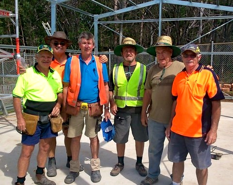 The Boys from The Caloundra Men's Shed giving us a helping hand.