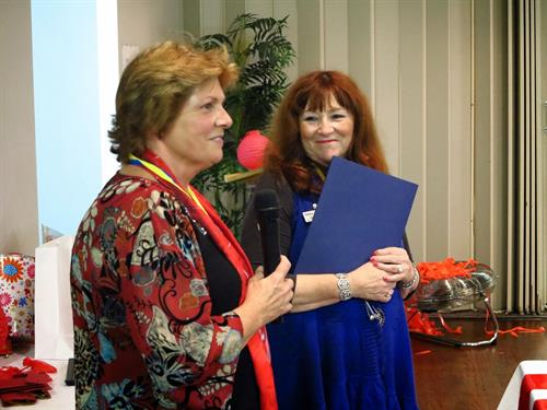 Judy Clark and Deb Taylor