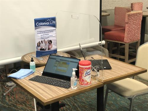 The Ginakes team's COVID-friendly employee benefits enrollment setup
