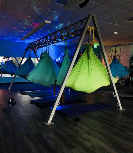Aerial yoga savasana.  So wonderful!