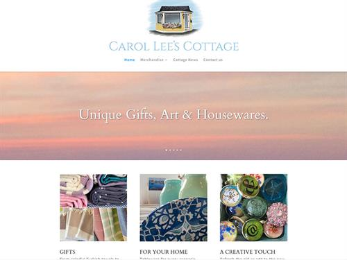 Carol Lee's Cottage website design & development