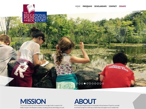 Educational Foundation for Rockport website design