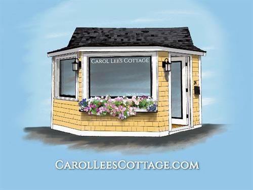 Carol Lee's Cottage illustration and logo design