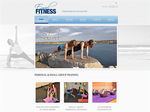 Engel Fitness website design & development