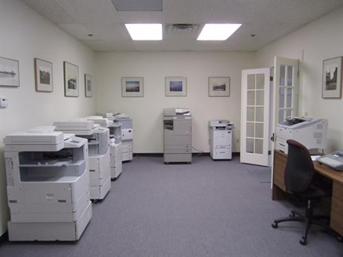 Show room at Eastern Copy Fax in Gloucester, MA