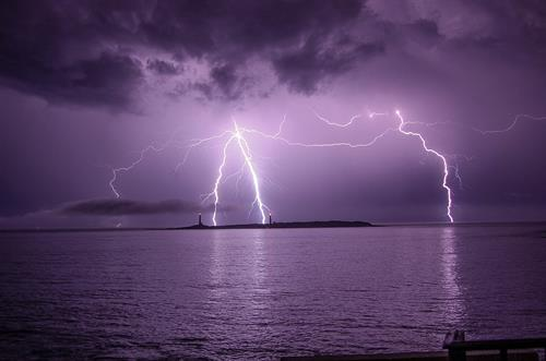 Storm over Thacher Island
