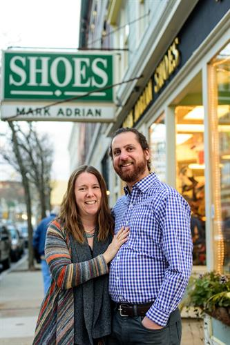 Adam and Sara, owners of Mark Adrian Shoes