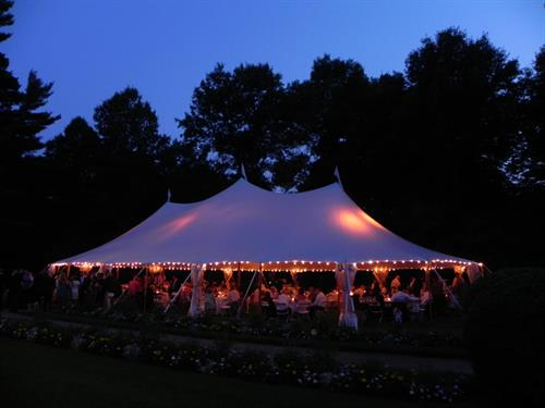 Tidewater Sailcloth Tent with Uplighting
