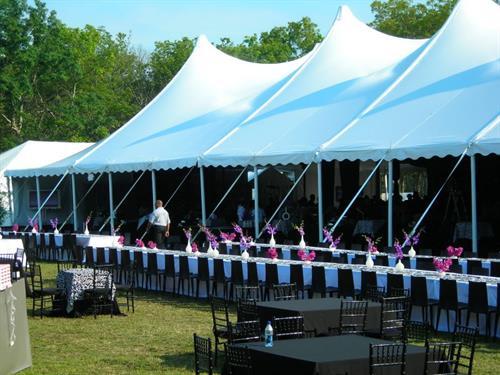 White Pole Tent