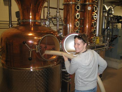 "Carolyn Loading mash into ""Annie"" the still. ""The Spirit of Cape Ann"""