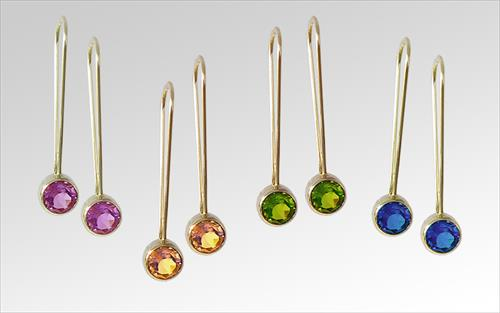 Gemstone earrings designed by Nancy Larson