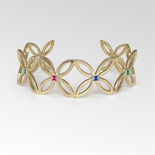 Cuff bracelet designed by Nancy Larson
