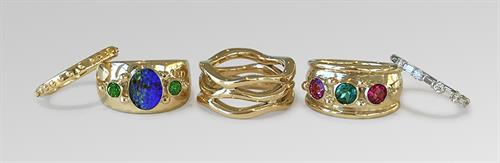 Custom gemstone rings