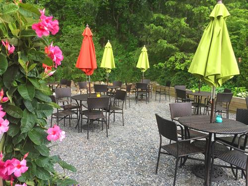 Enjoy a relaxing lunch or cocktail in our garden bistro patio.